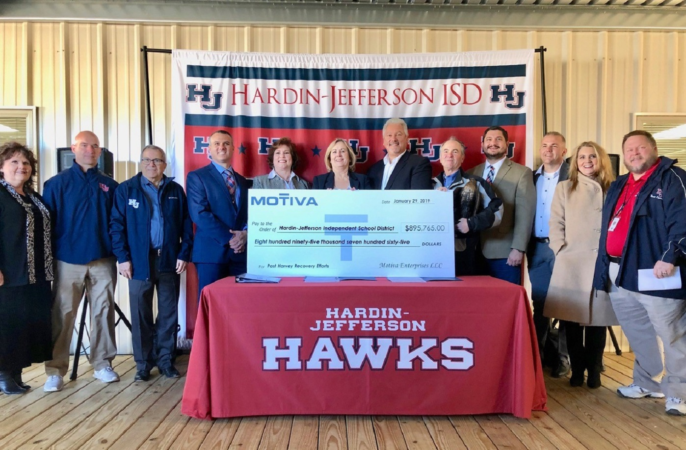 Motiva donates 890K to Hardin-Jefferson ISD